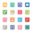 Web flat icons set and white background