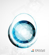 Futuristic circle abstract background