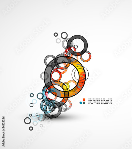 Abstract circles composition