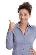 Gesicht einer Geschäftsfrau - Frau hat die Lösung