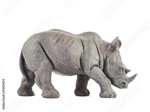 Staande foto Neushoorn Rhinoceros rhino sculpture
