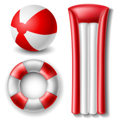 Beach ball and float set
