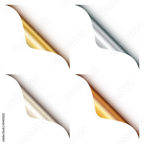 Set Of 4 Web Corners Metallic Rounded