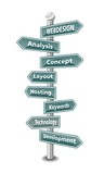 WEBDESIGN - word cloud - green signpost - NEW TOP TREND