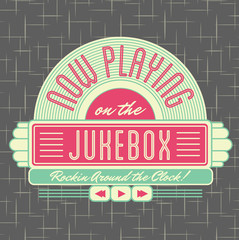 1950s Jukebox Style Logo Design
