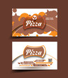 vector Pizza shop business card set
