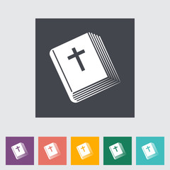Bible flat single icon.