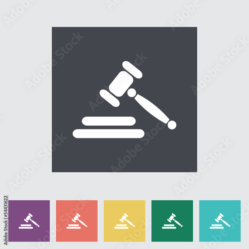 Auction flat icon
