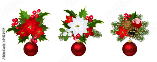 Christmas decoration elements Vector illustration.