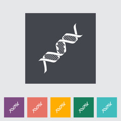 DNA flat icon.