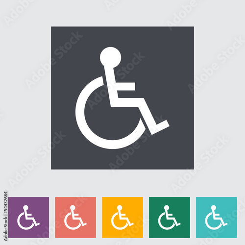 Disabled flat single icon.