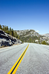 Asphalt road in Yosemite, USA