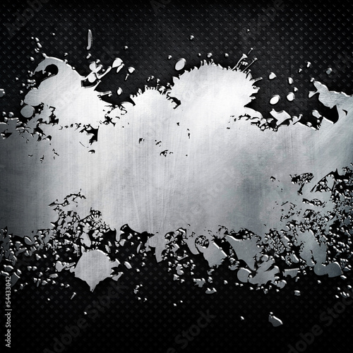 splash pattern on metal background