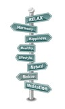 RELAX - word cloud  as green signpost - NEW TOP TREND