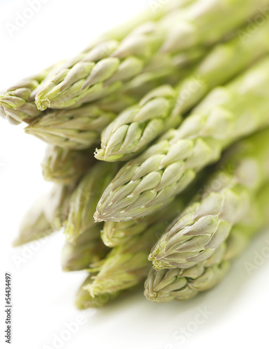 green aspargus on a white background with shadow