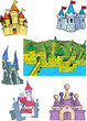 cartoon castles