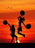 cheerleaders silhouette