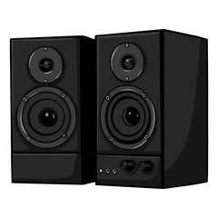 vector black loudspeakers