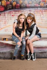 Cute Skateboarders
