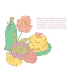 Food illustration. Vector card