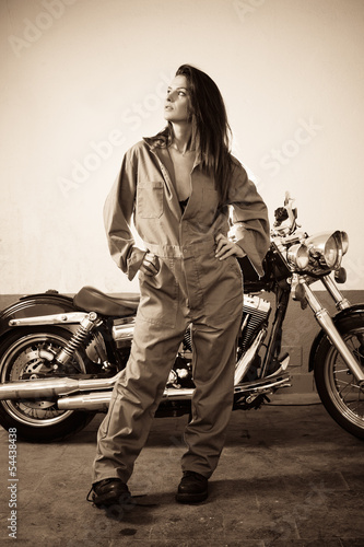 Sexy female mechanic