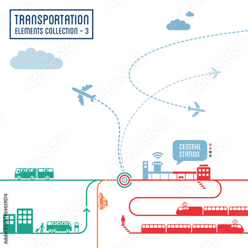 Transportation infographics - graphic elements set 3