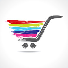 illustration of a paint shopping cart stock vector