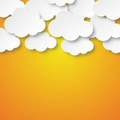 Orange clouds of cardboard
