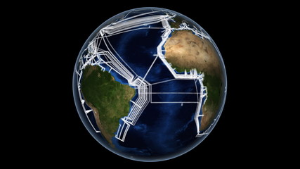 Submarine internet cable map.