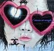 Fototapete Schauspielern - Herz - Graffiti