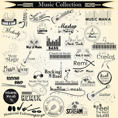 vector illustration of music and entertainment calligraphy