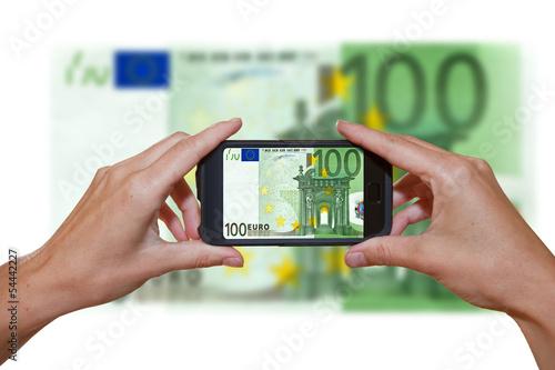 100 Euroschein - m-commerce