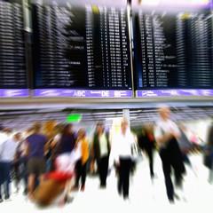 Airport Abflug Terminal - Motion Blur