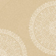Vector white doilies on beige background
