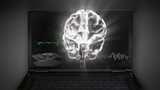 white 3d brain wave 3D