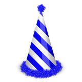 Vector illustration of blue birthday cap