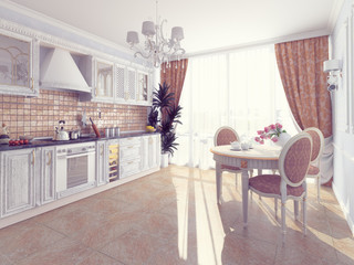 kitchen interior (3d)