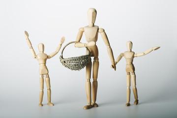 Mutter mit Kindern