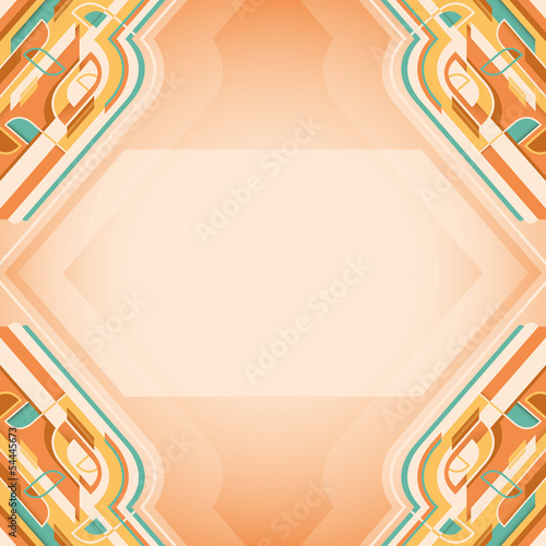 Colorful layout with abstract design.