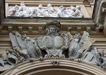 Detalle de arco del triunfo en Florencia Italia