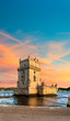 Sunset over Belem Tower