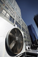 Urban HVAC Air Contidioner Outdoor Unit Manhattan New-York Bleac