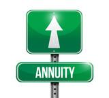 annuity road sign illustration design poster
