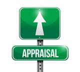 appraisal road sign illustration design poster