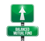 balanced mutual funds road sign illustrations poster