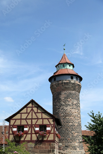 Nuremberg castle in Germany