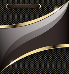 background with a gold stripe and grid