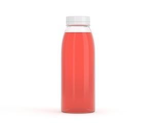 Flasche aus Plastik rot
