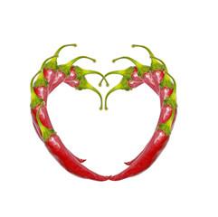 Heart made of pepper