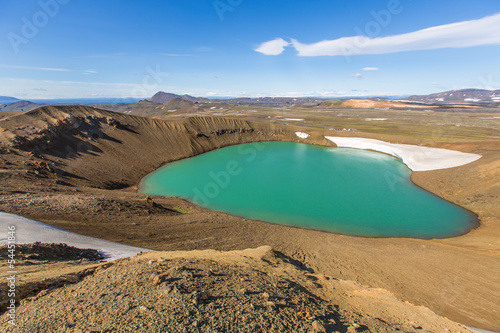 View from Víti-crater towards Krafla area, Iceland